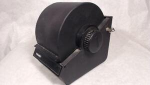 Vtg Black Rolodex Card File Model 2254d Metal Locking Retractable Cover One Key