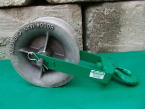 Greenlee 8012 12 Inch 8000 Lbs Sheave For Greenlee Tugger Puller Great Shape