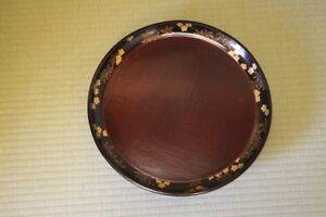 Japanese Old Lacquer Plate Obon