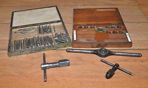 Tap Die Lot Blacksmith Machinist Collectible Metalworking Vintage Tool Lot