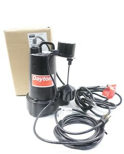 Dayton 3bb82 Iron Submersible Pump 1 2hp 115v ac