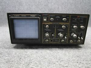 Protek Model P 3502c 20mhz Dual Trace Oscilloscope tested Working
