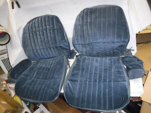 New Repo 1986 1988 Monte Carlo Front Bucket Seat Covers Blue Cloth W Headrests