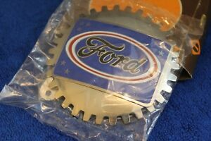Vintage Nos Ford Grille Badge License Plate Topper Accessory F100 F150 Truck