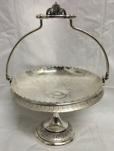 Victorian Reed Barton Aesthetic Silver Plate Brides Basket Centerpiece Compote