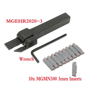 Mgmn300 3mm Inserts lathe Grooving Parting Cutter Tool Holder Mgehr2020 3