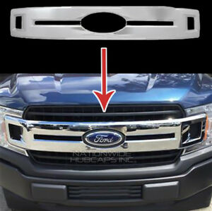 2018 2020 Ford F150 Xl Chrome Snap On Grille Overlay Full Grill Cover Insert New