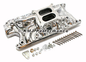 Small Block 289 302 347 Ford Polished Aluminum Intake Manifold Dual Plane