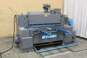 4 X 1 4 Wysong Model 425 Power Squaring Shear Yoder 69422