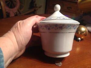 Cmielow Antique Floral Sugar Bowl Lid Made In Poland Sweet Holiday Gift Exc