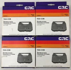 4 Packs Panasonic Kx r Series Typewriter Ribbon Cartridge T333 cob