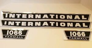 New Hood Side Panel Decal Set For Ih 1066 Tractor Without Turbo Decals