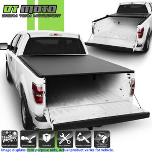 Soft Roll Up Tonneau Cover For 2004 2014 Ford F150 Crew Cab Styleside 5 5ft Bed