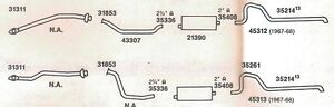 1968 Chrysler Imperial Dual Exhaust System 440 Engines Aluminized