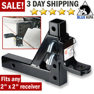 Adjustable Dual Ball Mount For Car Trailer Hitch Rv Tow Receiver Towing System