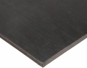 Polyurethane Sheet Adhesive backed Astm D 470 Black 1 4 Thick 12 Width