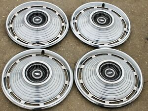 1967 Chevrolet Chevy Ii 14 Set Of 4 Hubcaps Wheel Covers 3012 3895218 67
