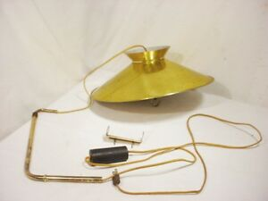 50 S Space Age Mid Century Modern Atomic Adjustable Saucer Wall Lamp Light Gold