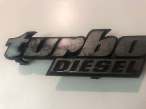 Vw Mk1 Rabbit Caddy Jetta Grill Turbo Diesel Emblem Rare