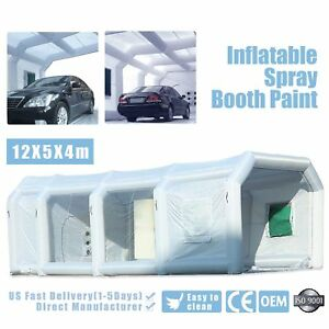 39 16 13ft Inflatable Paint Tent Giant Car Workstation Spray Paint Booth Grey