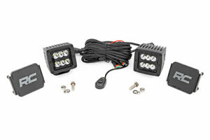 Rough Country 2 Led Square Cubes Cred Light Pods Spot Beam Pair Bs