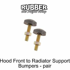 1965 1966 1967 1968 1969 Ford Fairlane Hood To Radiator Support Bumpers Pair