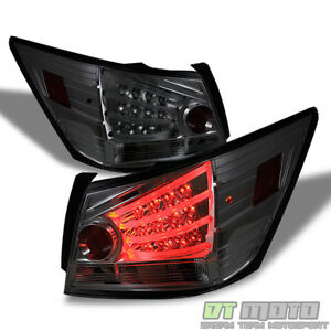 For Smoke 2008 2012 Honda Accord 4dr Sedan Lumileds Led Strip Tail Lights Lamps