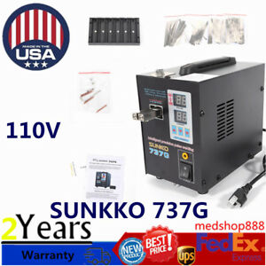 New Handheld Sunkko 737g Battery Spot Welder With Pulse Current Display 800a Us