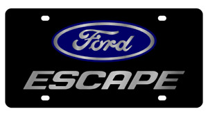 Ford Escape Stainless Steel 3d Logo Finish License Plate