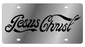 Jesus Christ Mirror Polished 3d Finish Logo Stainless Steel License Plate