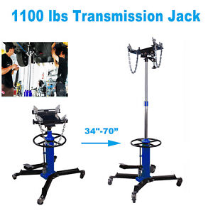 Blue 1100lbs 2 Stage Hydraulic Transmission Jack W 360 Swivel Wheels Lift Hoist