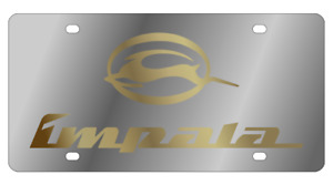 Chevrolet Impala Gold Polished 3d Finish Logo Stainless Steel License Plate
