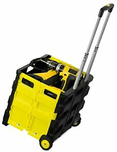 Mount it Rolling Utility Cart Folding And Collapsible Hand 55 Lbs Capacity
