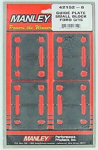 42152 8 Manley Steel Guide Plates Ford 289 302 351w Fits 5 16 Pushrods