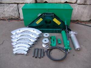Greenlee 884 Hydraulic Bender 1 1 4 To 4 Inch With Pump Great Shape