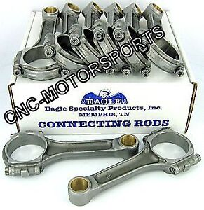 Sir5850bblw Sb Chevy 350 Eagle 5140 Forged I Beam Connecting Rods 5 850 Bushed