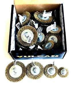 25pc Vulcan Coarse Steel Wire Wheel Brush Assortment Quick Change Hex Shank 6682