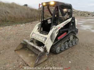 2013 Terex Pt30 Multi Terrain Skid Steer Loader Rubber Track Aux Hydraulics