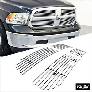 Fits 2013 2018 Ram 1500 Honeycomb Style Upper Stainless Billet Grille Insert