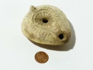Ancient Holy Land Pottery Oil Lamp Used Ex J R Stewart Collection