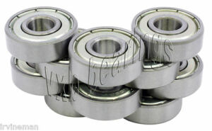 10 Bearing 2 5x7 X3 5 Ball Bearings Chrome 2 5mm X 7mm