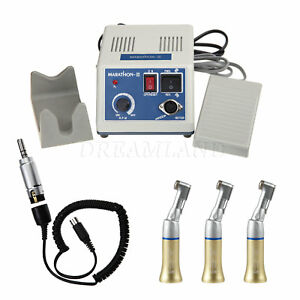 Dental Lab Marathon Micromotor 35k Rpm Electric Motor W 3x Contra Angle Gold C