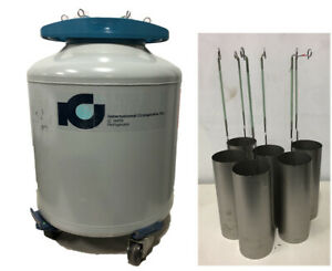 International Cryogenics Ic 38 Rx Liquid Nitrogen Dewar 38l With Dippers