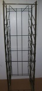 Store Display Fixtures Rolling Rack With Tilted Shelves 75 Tall Black
