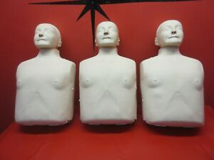 lot Of 3 Laerdal Little Anne Manikin Practice Cpr Dummy Carrying Case Tested