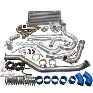 Cxracing Turbo Intercooler Kit For 1993 2002 Toyota Supra Mk4 2jz gte Blue Hose