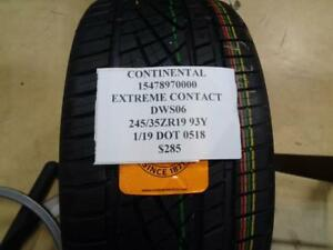 1 New Continental Extreme Contact Dws06 245 35 19 93y Tire 15478970000 Q9