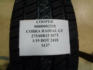 2 New Cooper Cobra Radial Gt 275 60 15 107t Tires Wo Label 90000002528 Q8