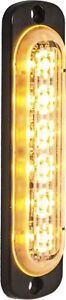 Buyers 8891910 6 Led Amber Vertical Low Profile Strobe Light Surface Mount
