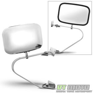 Ford Bronco F Series Pickup Truck Chrome Manual Side View Mirror Left Or Right